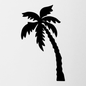 palm tree - Contrast Coffee Mug