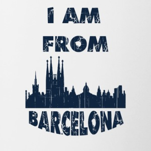 Barcelona I am from - Contrast Coffee Mug