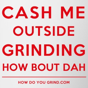 Grind Squared Swag - Cash Me Grinding Red - Contrast Coffee Mug