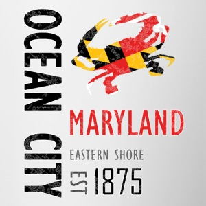 Ocean City Maryland Crab - Contrast Coffee Mug