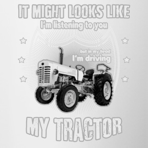 It might looks like listening driving TRACTOR grey - Contrast Coffee Mug