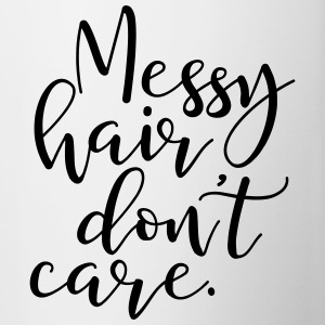 Messy Hair Dont Care - MHDC - Contrast Coffee Mug