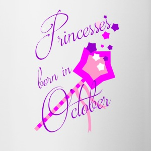 Princesses Born in October - Contrast Coffee Mug