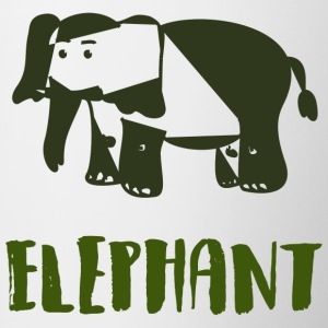 Elephant Green - Contrast Coffee Mug