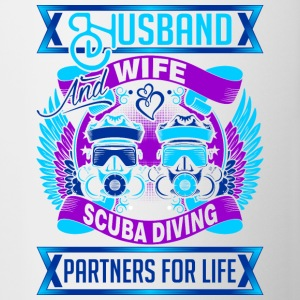 Husband And Wife Scuba Diving Partners For Life - Contrast Coffee Mug