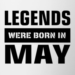 Legends were born in May - Contrast Coffee Mug