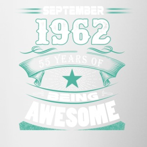 September 1962 - 55 years of being awesome - Contrast Coffee Mug