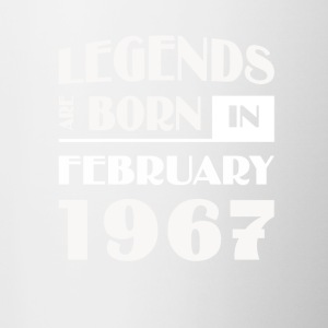 Legends are born in February 1967 - Contrast Coffee Mug