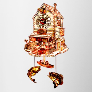 Fishing Lodge Cuckoo Clock - Contrast Coffee Mug