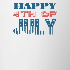Happy 4th of July Independence Celebration - Contrast Coffee Mug