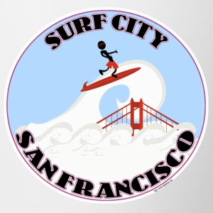 Surf City San Francisco - Contrast Coffee Mug