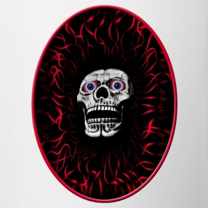 skull in flames - Contrast Coffee Mug