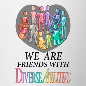 We Are Friends With DiverseAbilities - Contrast Coffee Mug