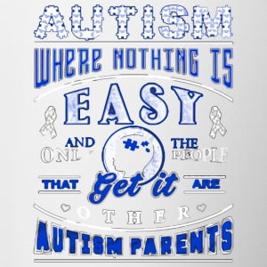 autism where nothing is easy - Contrast Coffee Mug
