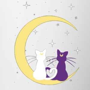 TWINS CATS MOON - Contrast Coffee Mug
