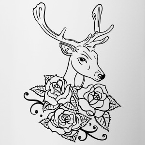 Deer with roses, Oktoberfest - Contrast Coffee Mug