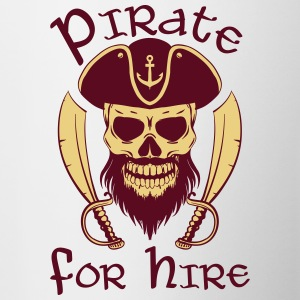 Pirate For Hire - Contrast Coffee Mug