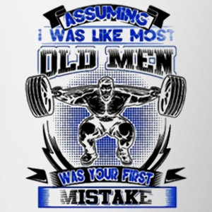 old man was your first mistake - Contrast Coffee Mug