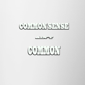 Common Sense - Contrast Coffee Mug