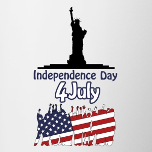 independence day 4 july - Contrast Coffee Mug