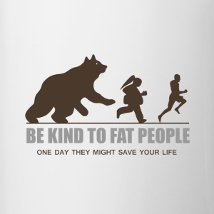 BE KIND TO FAT PEOPLE - Contrast Coffee Mug