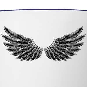 angelic-wings-vector-staff-angel-cartoon - Contrast Coffee Mug