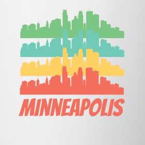 Retro Minneapolis MN Skyline Pop Art - Contrast Coffee Mug