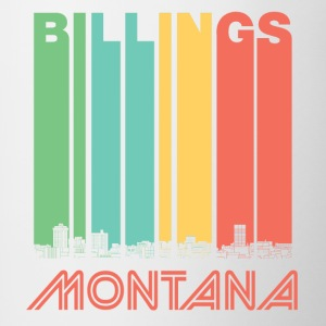 Retro Billings Montana Skyline - Contrast Coffee Mug