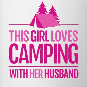 This Girl Loves Camping With Her Husband T Shirt - Contrast Coffee Mug