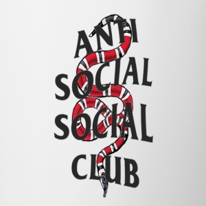 Anti social social club x snake - Contrast Coffee Mug