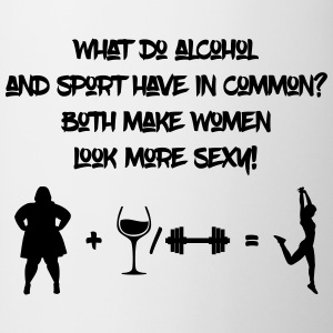 Alcohol and sport make women look more sexy - Contrast Coffee Mug