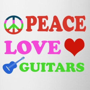 Peace love Guitars - Contrast Coffee Mug