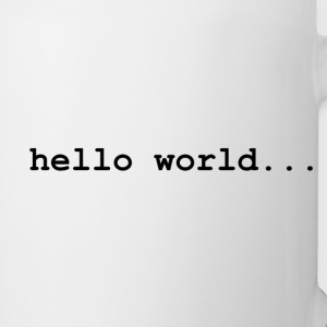 hello world.. - Contrast Coffee Mug