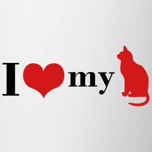 I love my Cat - Contrast Coffee Mug