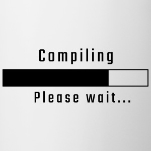 Compiling - Please wait - Contrast Coffee Mug