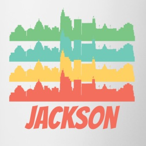 Retro Jackson MS Skyline Pop Art - Contrast Coffee Mug