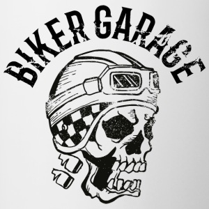 Biker garage skull tatoo - Contrast Coffee Mug