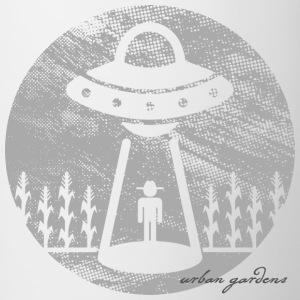 ABDUCTION! ... in the garden, by Urban Gardens - Contrast Coffee Mug