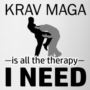 Krav Maga is my therapy - Contrast Coffee Mug
