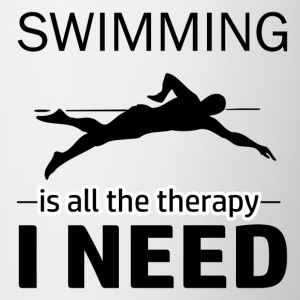 Swimming is my therapy - Contrast Coffee Mug
