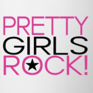 Pretty girls rock shirts - Contrast Coffee Mug
