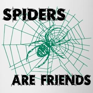 spiders are friends - Contrast Coffee Mug