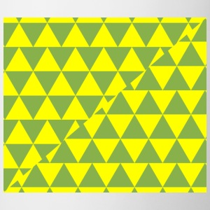 Green and Yellow Triangles Pattern - Contrast Coffee Mug