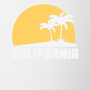 California Sunset Palm Trees Beach - Contrast Coffee Mug