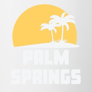 Palm Springs California Sunset Palm Trees Beach - Contrast Coffee Mug