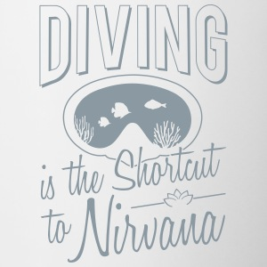 Diving is the shortcut to Nirvana - Contrast Coffee Mug