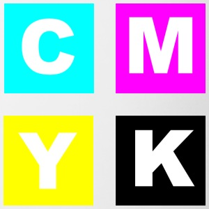 CMYK Color Squares with Key Black - Contrast Coffee Mug