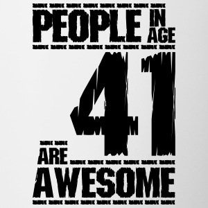 PEOPLE IN AGE 41 ARE AWESOME - Contrast Coffee Mug