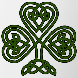 celtic shamrock - Contrast Coffee Mug