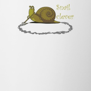 Snail clever - Contrast Coffee Mug